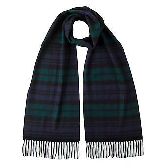 Johnstons of Elgin Black Watch Woven Cashmere Tartan Scarf - Black/Navy/Green