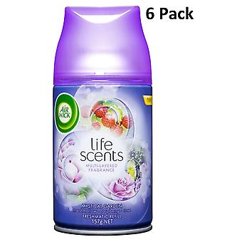 6 x Air Wick Freshmatic Max automatisk Spray Refill 250ml - mystiske Garden
