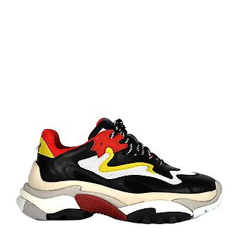 Ash ADDICT Trainers Black Leather & Red Mesh