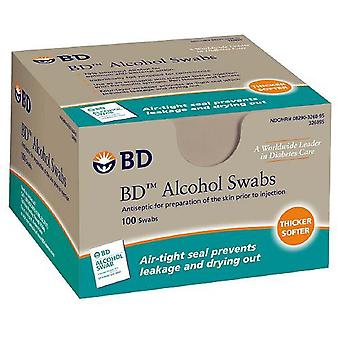 Bd alcohol swabs, antiseptic, 100 ea