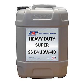 HMT HMTM137 Heavy Duty Diesel Engine Oil Super SS E4 10W-40 - 20 Litre Plastic
