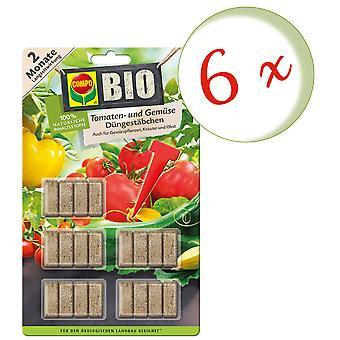 Sparset: 6 x COMPO BÂTONS d'engrais bio tomate et légumes, 20 morceaux