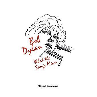 Bob Dylan - Cosa significano le canzoni di Michael Karwowski - 9781838591731 B