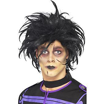 Ψυχοπαθής περούκα Έντουαρντ περούκα ψαλίδι χέρια μαύρο ψυχοπαθή περούκα