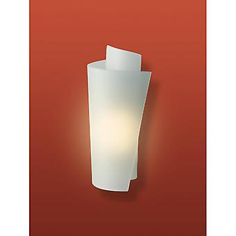 Grace Wall Lamp, Satin Steel And Glass