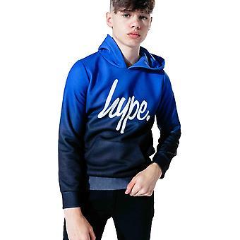 Hype Kids Script Fade Hoodie Blue 47