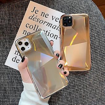 Electro și sclipici placate shell mobil pentru iPhone11 Gold