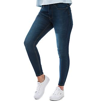 Women's Jacqueline de Yong New Nikki Life High Rise Skinny Jeans in Blue