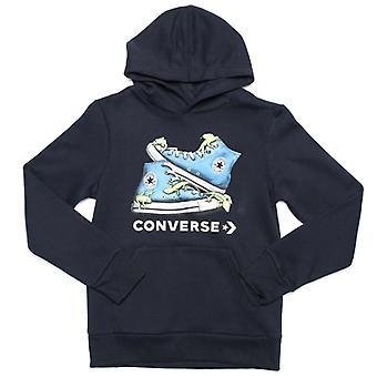 Boy's Converse Junior Bio Chuck Sudadera en azul
