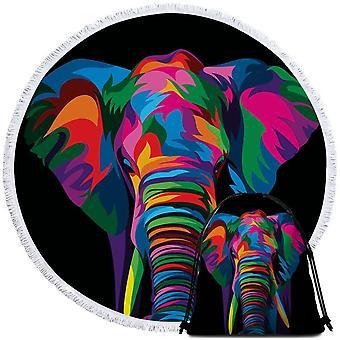 Värikäs elefantti ranta pyyhe