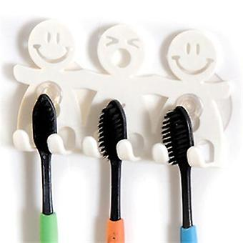 Cute Cartoon Suction Hooks 5 Position Tooth Brush Holder