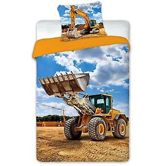 Digger Single Duvet Cover and Pillowcase Set - European Size