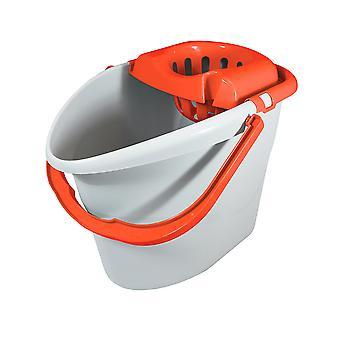 Charles Bentley 'Brights' Orange Mop & Bucket Set