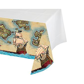 Pirate's Map Plastic Party Tablecover for Kids Parties - 2.6m x 1.4m