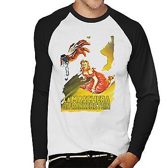 Hammer Horror films Frankenstein Elizabeth GASP mannen ' s honkbal lange mouwen T-shirt