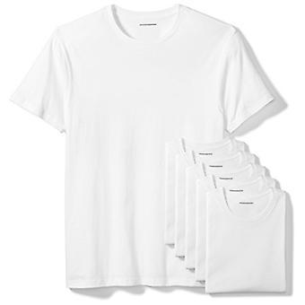 Essentials Men's 6-Pack Crewneck Undershirts, White, Large