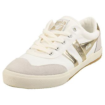 Gola Sulkapallo Naisten Casual Trainers White Gold