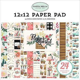 Carta Bella Flower Market 12x12 Inch Paper Pad
