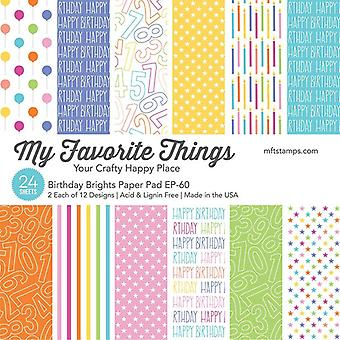 My Favorite Things Birthday Brights 6x6 Inch Paper Pad