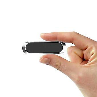 Car Phone Holder - Strong Magnetic Mini Strip Washable & Reusable (Black)