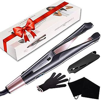 Flat Iron Hair Straightener 2 in 1 Twist Straightening Curling Iron Beach Wave Hair Curling