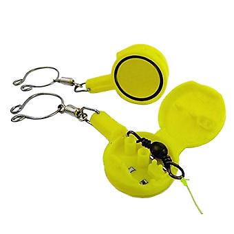 2PCS Portable Fishhook Storage Box Yellow