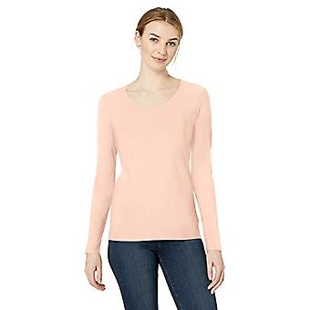 Brand - Daily Ritual Women's Stretch Supima Long-Sleeve Scoop Neck T-S...