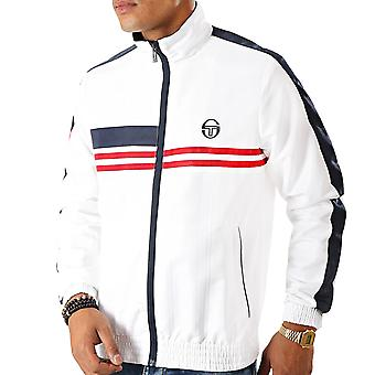 Sergio Tacchine Mens Decha Casual High Collar Zip Up Track Top Jacket - White