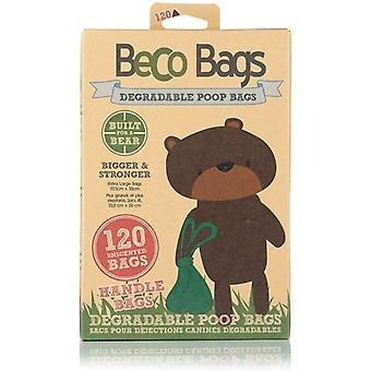 Sacs Beco Poop - Sacs plats avec poignées 120 sacs
