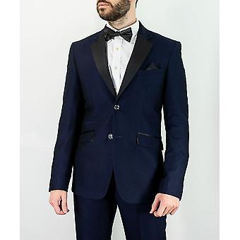 Cavani Men's Myers Slim Fit Textured Suit in Navy