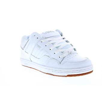 DVS Enduro 125 Mens White Leather Lace Up Skate Inspired Sneakers Shoes