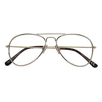 Leesbril Women's Ann goud/zwarte sterkte +3.00