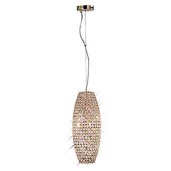 Geïnspireerd diyas - Kos - Plafondhanger 4 Licht Frans Goud, Kristal