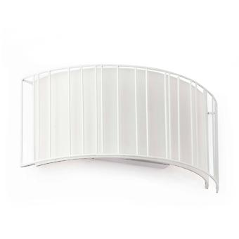 2 Light Indoor Wall Light White with Shade, E27