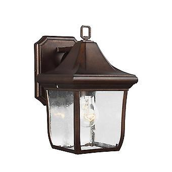 Elstead Oakmont - 1 lys utendørs liten vegg lanterne lys bronse IP44, E27