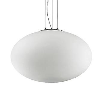 Ideale Lux Candy - 1 licht grote globe plafond hanger wit, E27