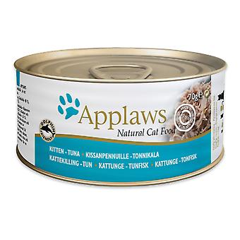 24 x 70g Applaws Natural Kitten Cat Wet Food Tonijn Vis Natuurlijke Pet Snack