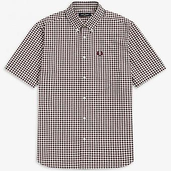 Fred Perry M9604 Chemise Gingham S/s Acajou