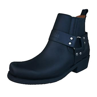Johnny Bulls Sprinter Mens Leather Ankle / Chelsea Boots - Black
