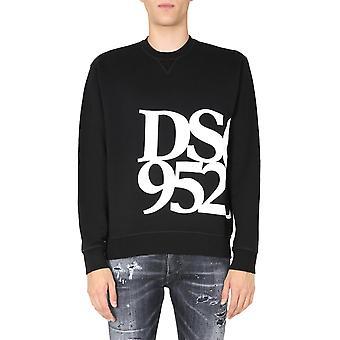 Dsquared2 S71gu0418s25042900 Män's Svart Bomull Sweatshirt