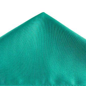 Kravaty Planet Plain Teal Zelená rebrované Vreckové námestie vreckovku