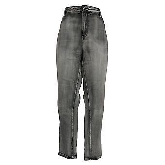 Laurie Felt Women's Plus Jeans Denim Colored Zip Fly Skinny Gray A374325