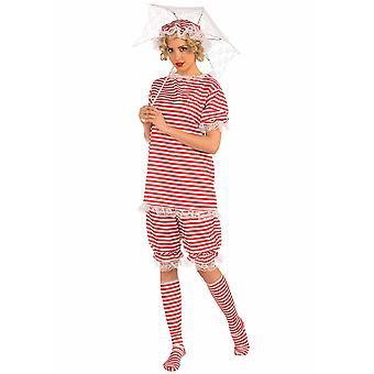 1920s 1930s strand Bettie Beach bading Retro bading Dress kvinner drakt