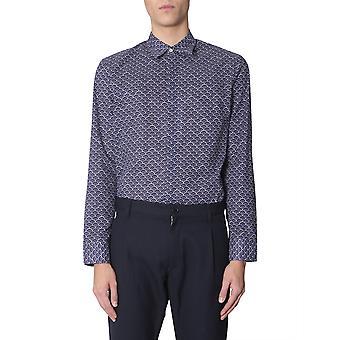 Maison Margiela S50dl0371s49689003s Men's Blue Cotton Shirt