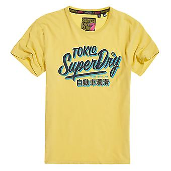 Superdry Ticket Type Oversized Fit Tee - Skate Yellow