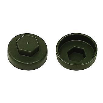 ForgeFix TechFast Cover Cap Olive Green 16mm (Pakke 100)