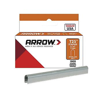 Arrow T25 Staples 11mm (7/16in) Box 1000