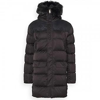 Glorious Gangsta Vernier Longline Puffer Coat Black