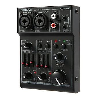 Mini Channel Sound Card Mixing Console, Mixeur Audio Numérique