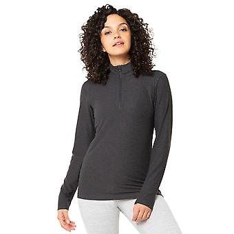 Kyodan Womens Fitted Long Sleeve 1/4 Zip Up Sweater Top